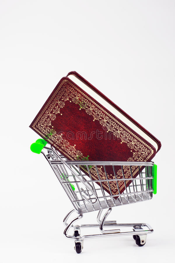 Download Shopping Cart with a book stock image. Image of classic - 19450209