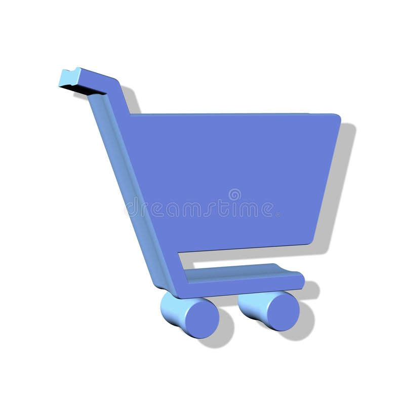 Download Shopping cart button stock illustration. Image of symbol - 2561686