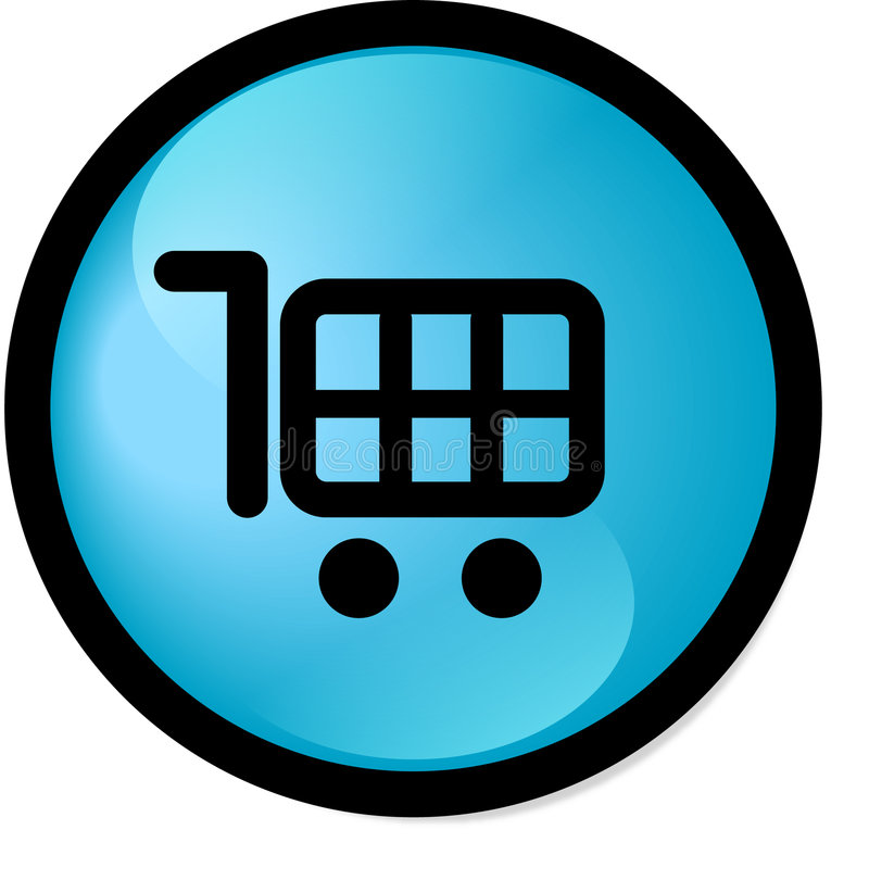 Shopping cart button royalty free illustration