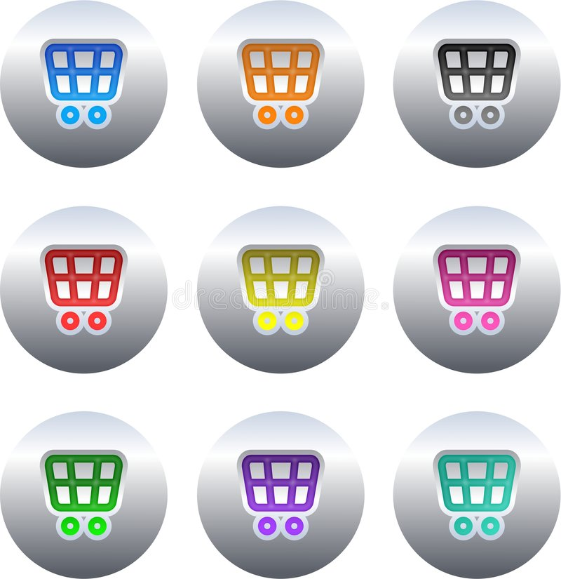 Shopping cart buttons royalty free illustration