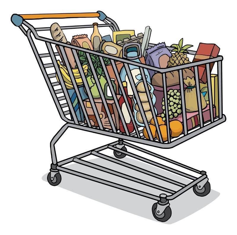 Full Grocery Cart Clipart Shopping cart s...