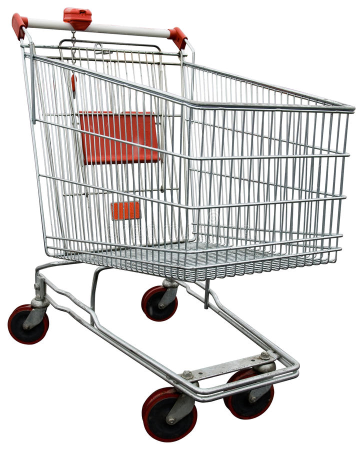 Download Shopping Cart With Clipping Path Stock Photos - Image: 12189763