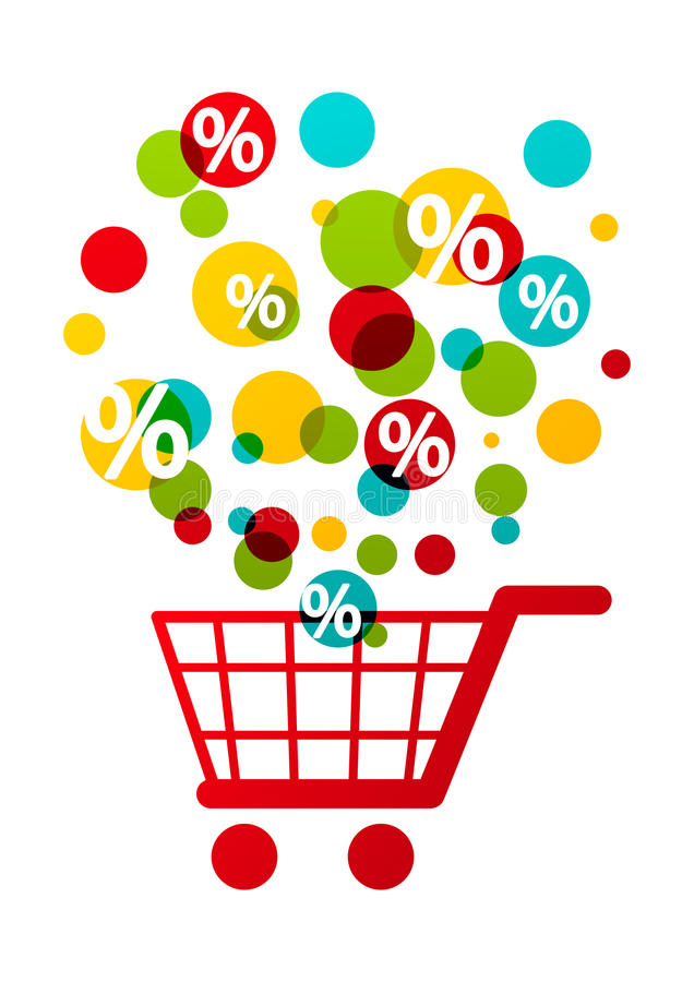 Download Shopping cart stock vector. Illustration of percent, sign - 37482866