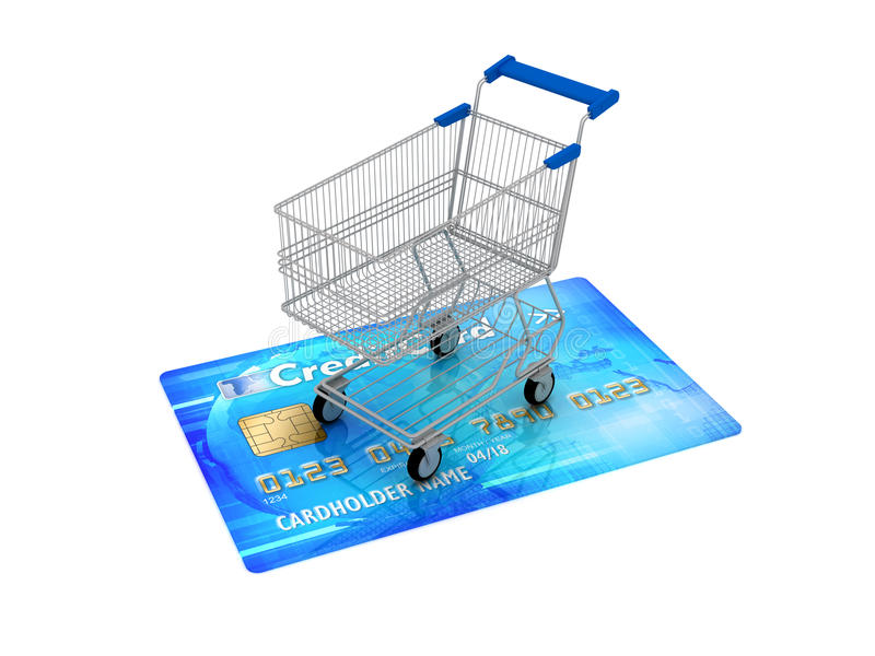 Download Shopping Cart On Credit Card Stock Image - Image: 27815977