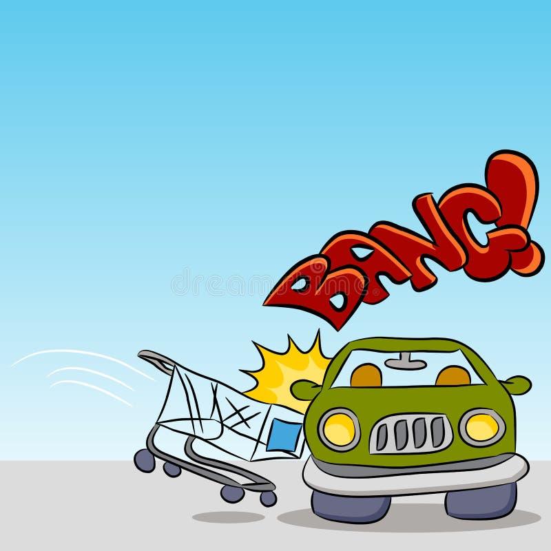 Download Shopping Cart Damaging Car stock vector. Image of damage - 19747135