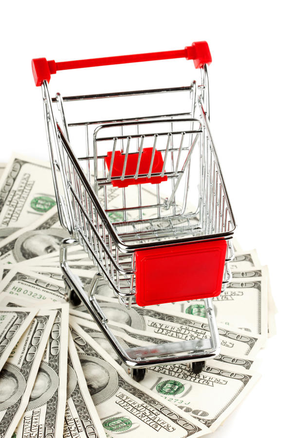 Download Shopping cart and dollars stock image. Image of customer - 23262655
