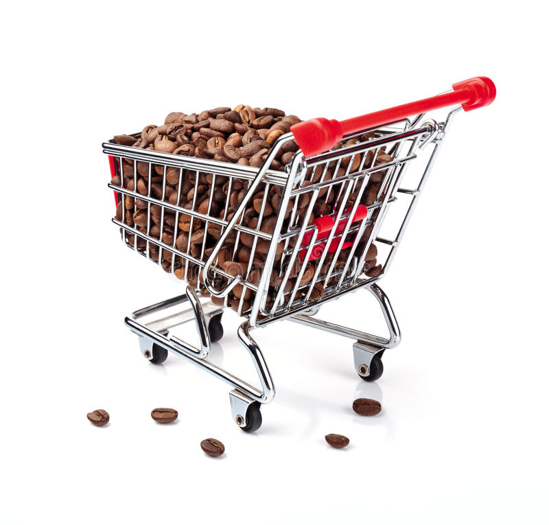Download Shopping Cart Filled With Coffee Beans Stock Photo - Image: 19813192