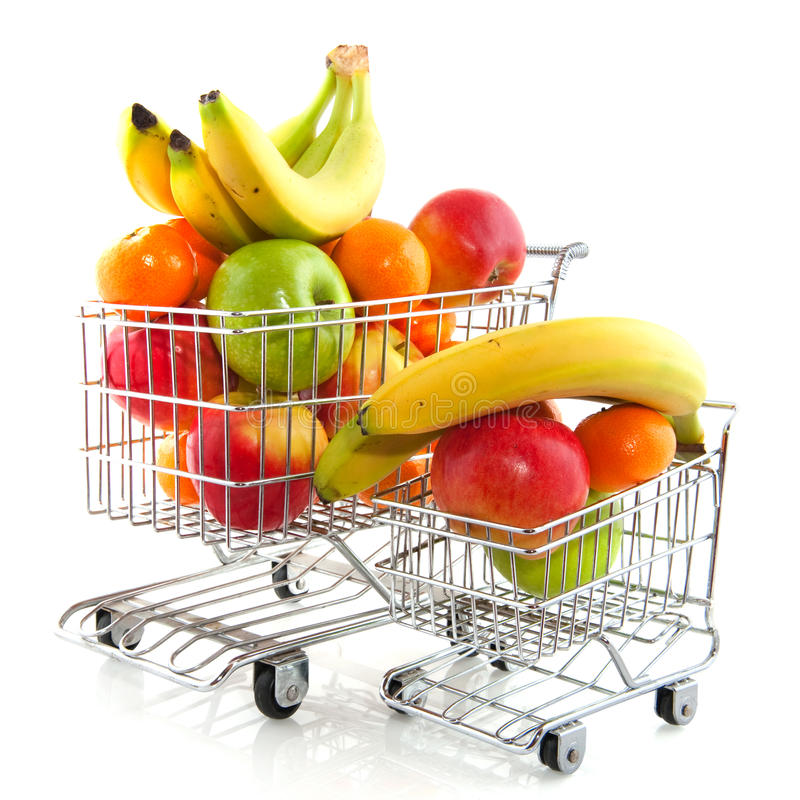 Download Shopping cart with fruit stock image. Image of fresh - 12165995