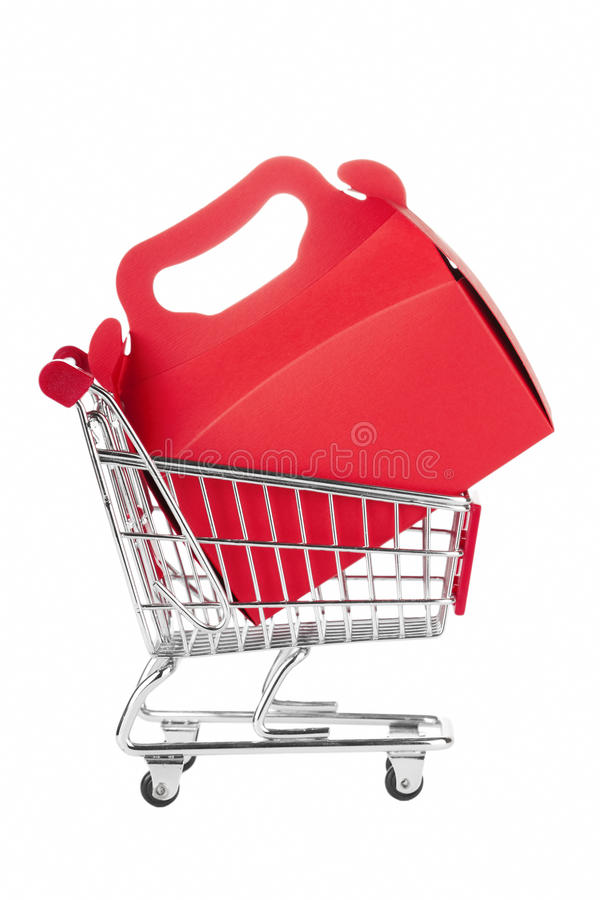 Download Shopping Cart and gift box stock image. Image of celebration - 23875973