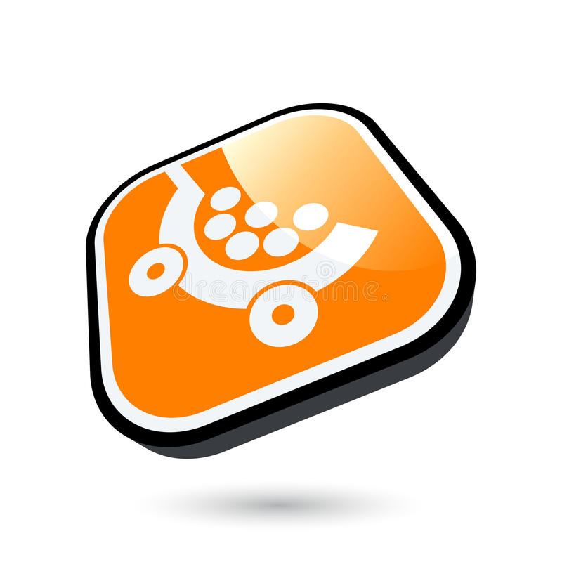 Download Shopping cart icon stock vector. Image of icon, shopping - 12331887
