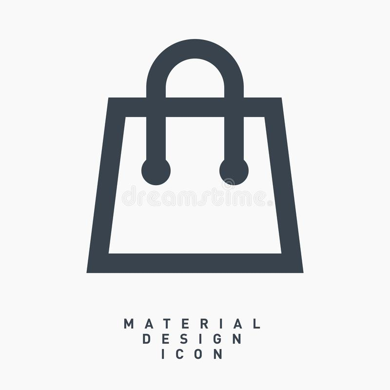 Supermarket commercial material design line vector icon royalty free stock photo