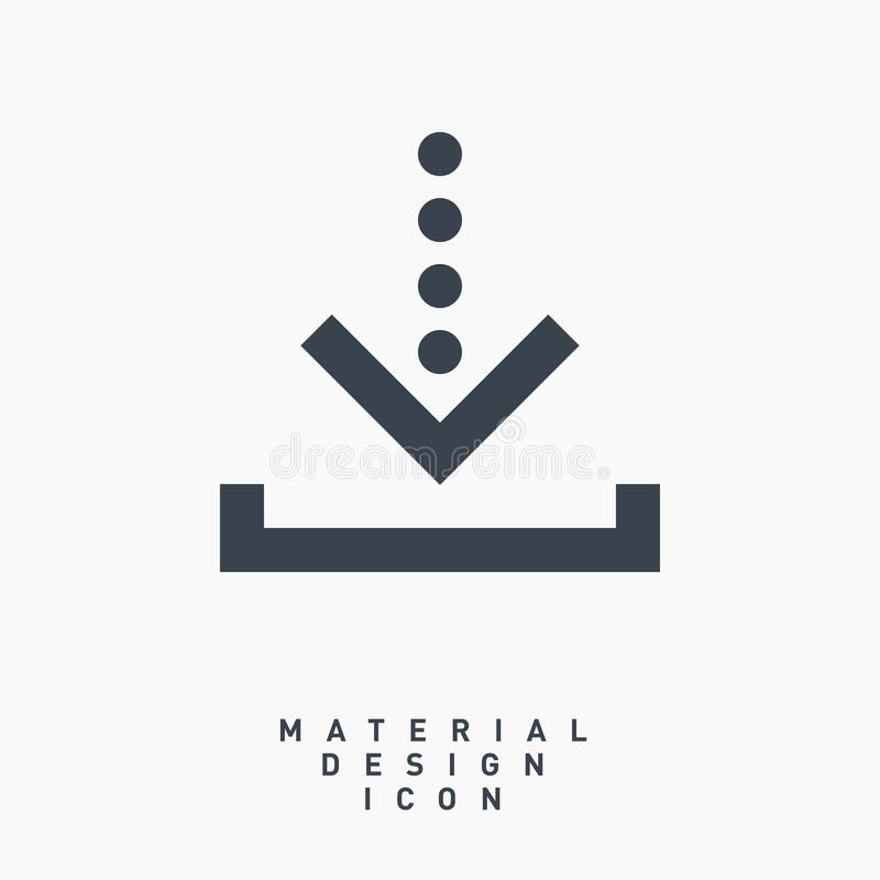 Download arrow symbol line vector icon royalty free stock images