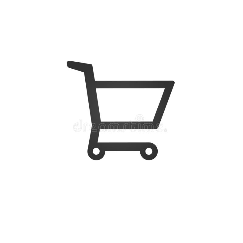 Shopping Cart Icon, flat design best vector icon. vector illustration isolated on white background royalty free illustration