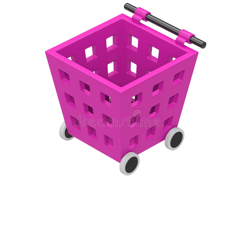 Shopping Cart Icon Isolated on White royalty free stock photo