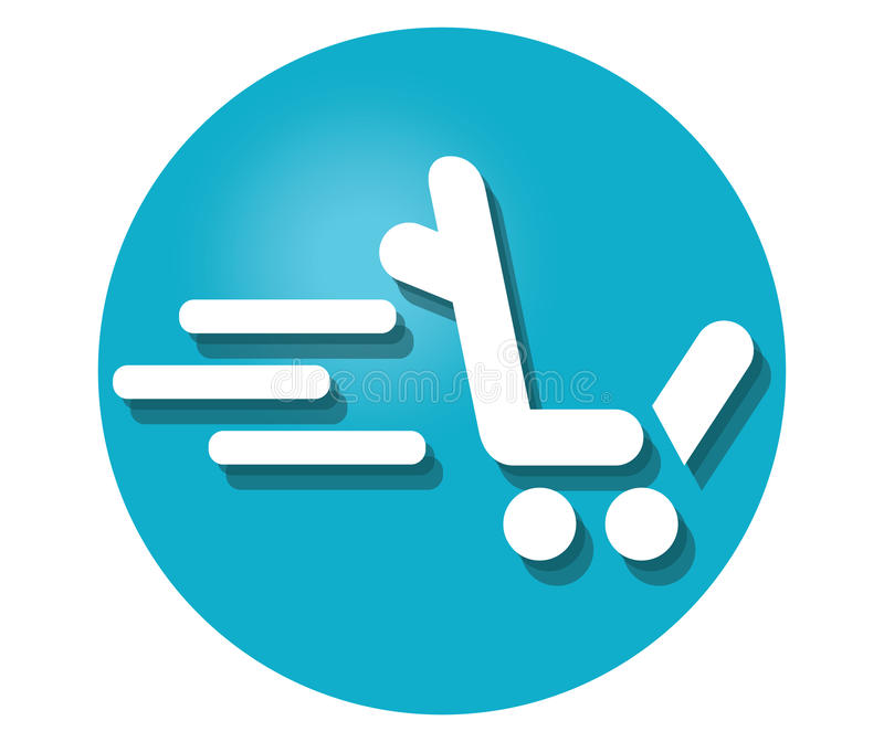 Shopping Cart Icon For L. Shopping Cart Icon Concept Design. AI 8 supported stock illustration