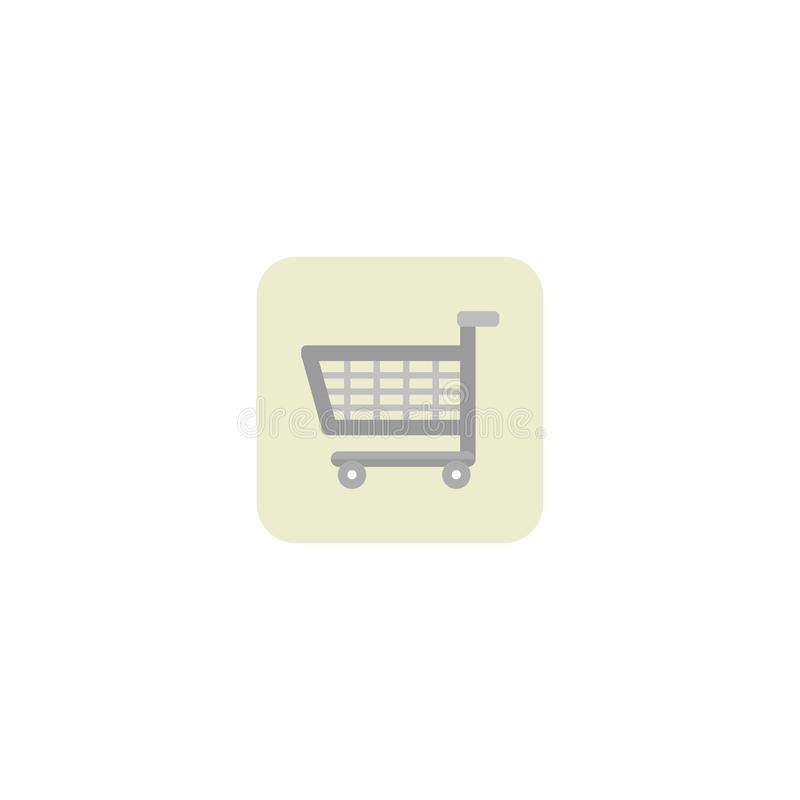 Shopping cart icon. Trolley. White background. Vector illustration. EPS 10 royalty free illustration