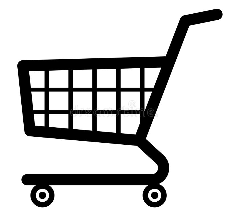 Shopping cart icon (Vector). Vector shopping cart illustration isolated on white vector illustration