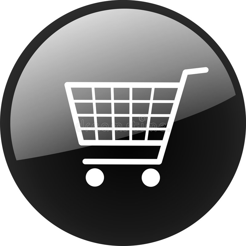Shopping cart icon VECTOR stock illustration