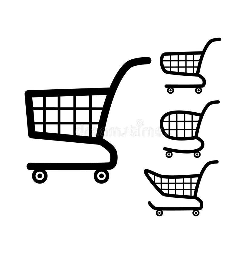 Shopping cart icon. Shopping cart icon - vector illustration stock illustration