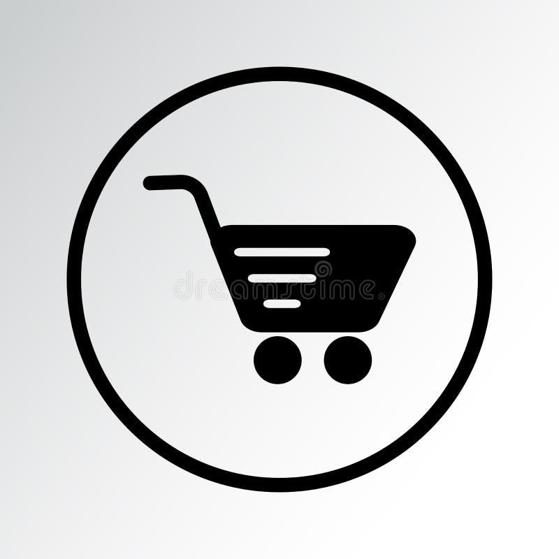 Shopping cart icon. Vector illustration vector illustration