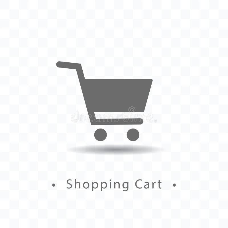 Shopping cart icon vector illustration on transparent background. vector illustration