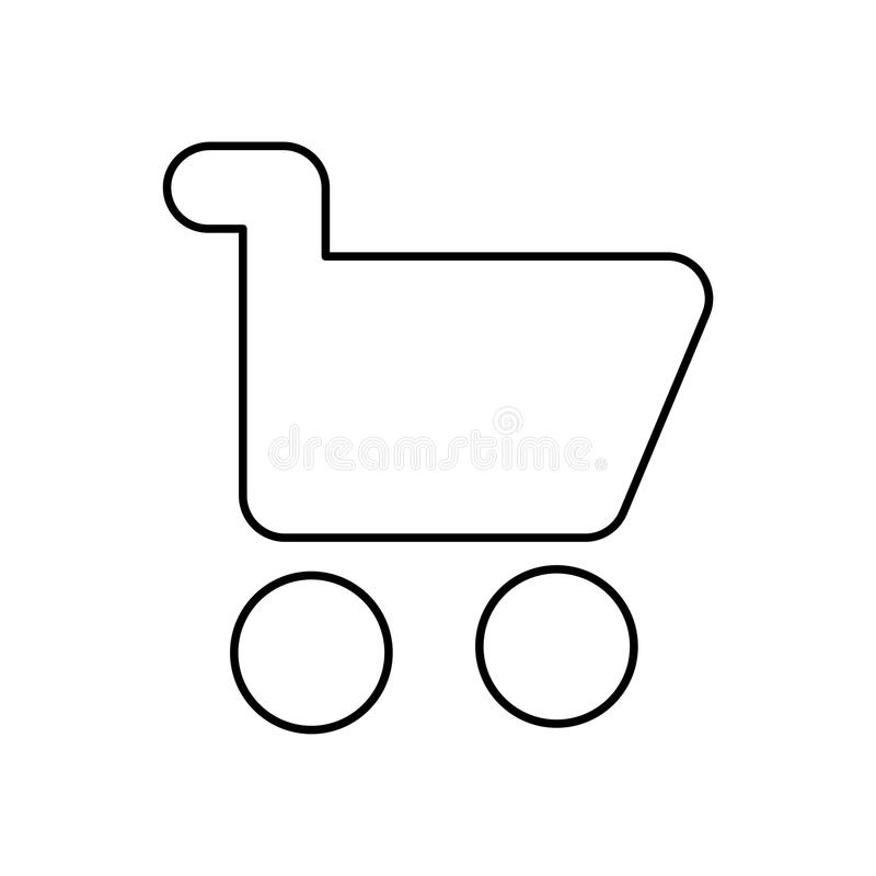 Shopping cart icon vector. Isolated vector lined illustration for web or app design. stock illustration