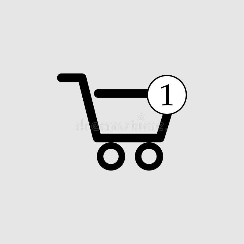 Shopping cart icon vector stock photography