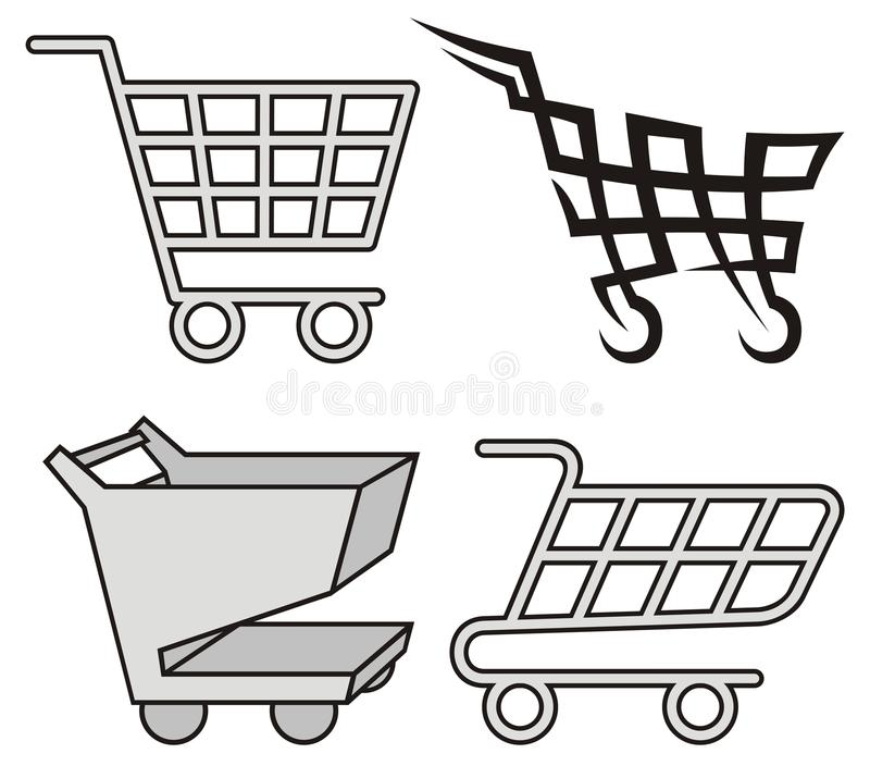 Download Shopping cart icons stock vector. Illustration of tribal - 19341453