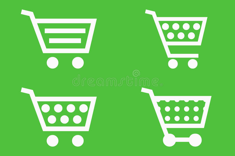 Shopping Cart Icons Royalty Free Stock Images