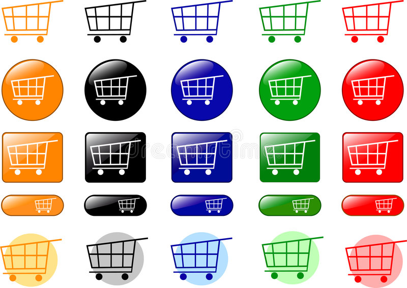 Download Shopping cart icons stock vector. Image of abstract, cash - 8275974