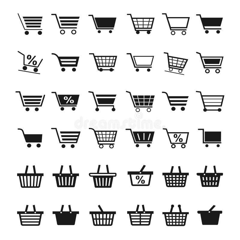Shopping Cart Icons royalty free illustration
