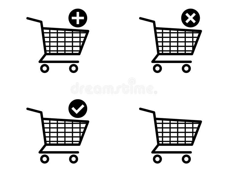 Shopping Cart Icons Royalty Free Stock Image