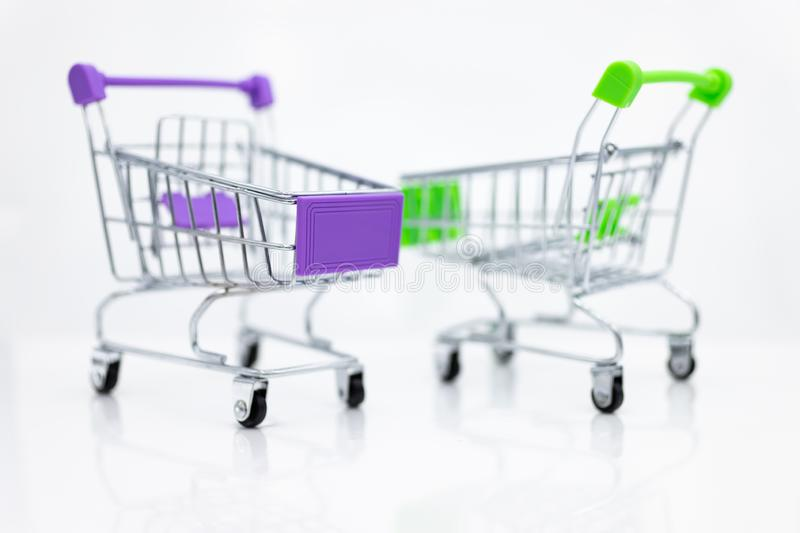 Shopping Cart , image use for retail business online for support of customer on internet, marketing business concept.  stock images