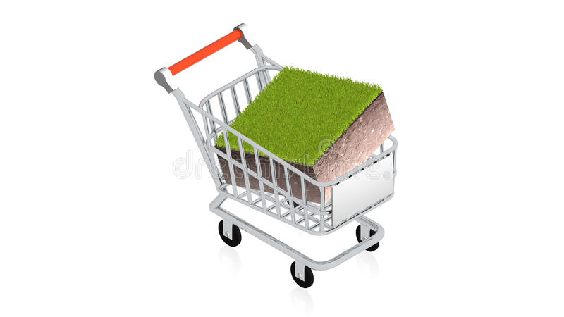 Download Shopping Cart With Item Stock Image - Image: 25947931