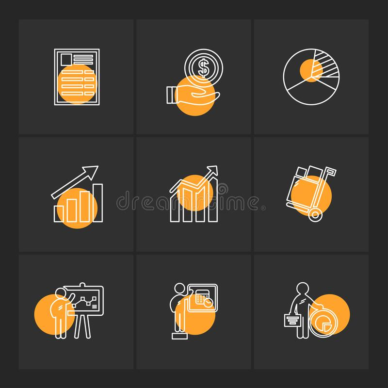 Shopping , cart , money , graph , user interface , eps icons set. Shopping , cart , money , graph , user interface , credit card , add , garments , dollar royalty free illustration