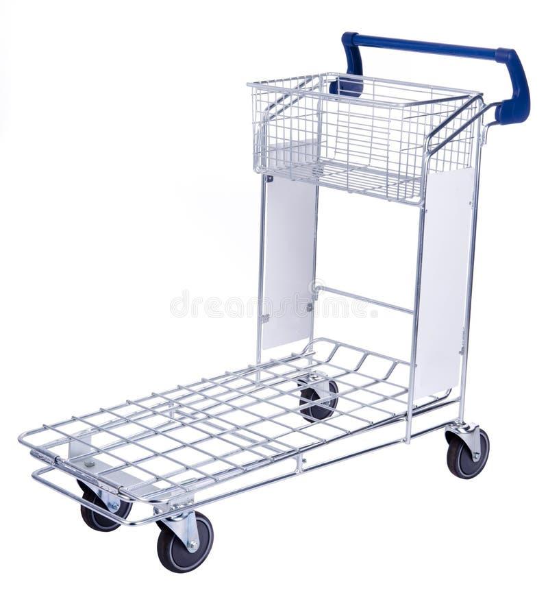 A shopping cart royalty free stock photo