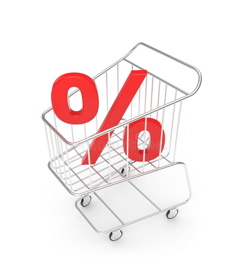 Shopping Cart With Percent Sign Free Stock Photos