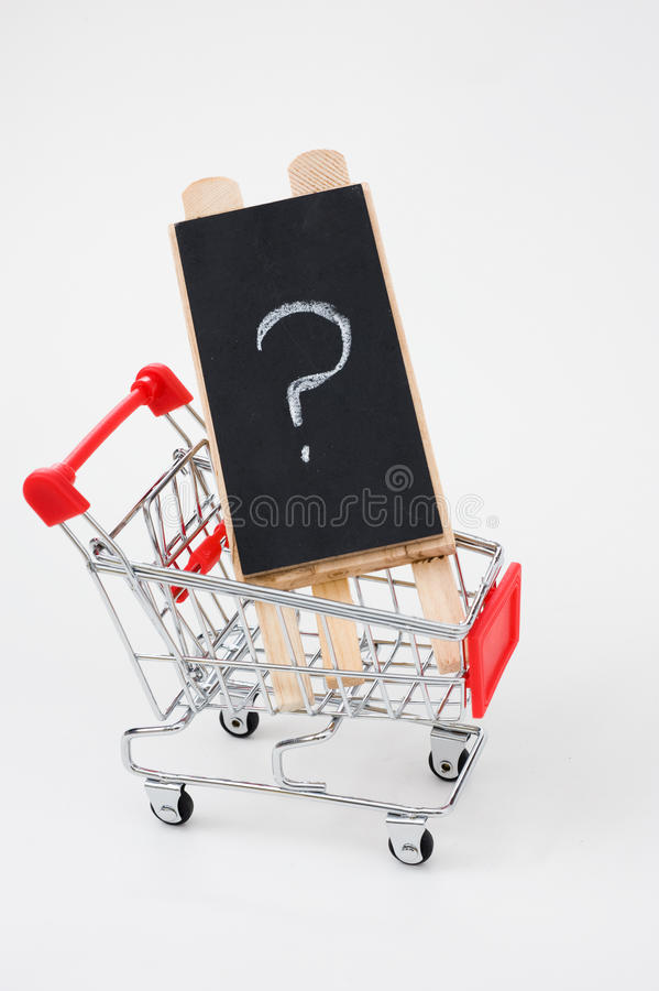 Download Shopping Cart With Question Stock Photo - Image: 16470810