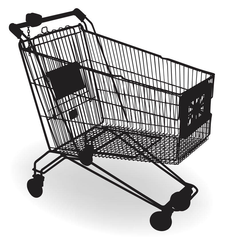 Shopping Cart Silhouette stock images