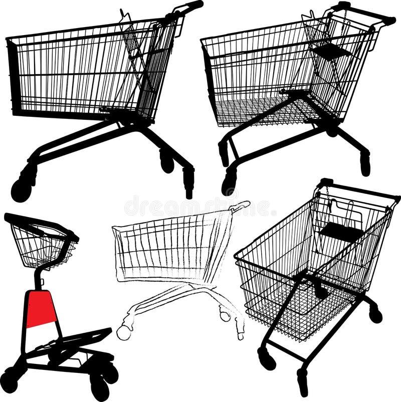 Shopping cart silhouettes