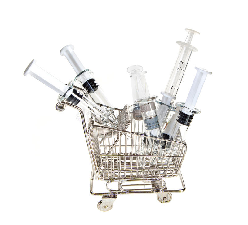 Download Shopping Cart With Syringes Stock Photo - Image: 19337718