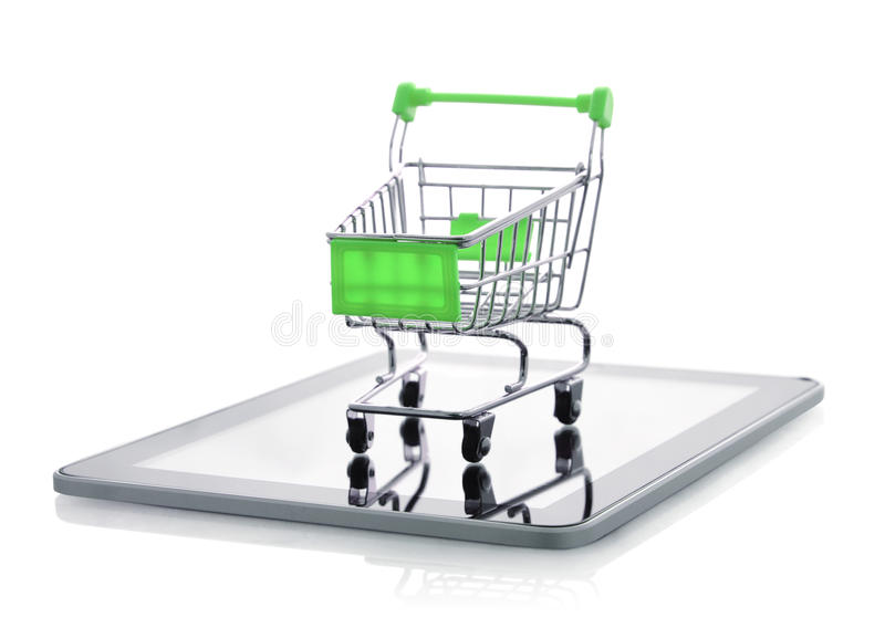 Download Shopping cart on tablet pc stock image. Image of ebusiness - 38876861