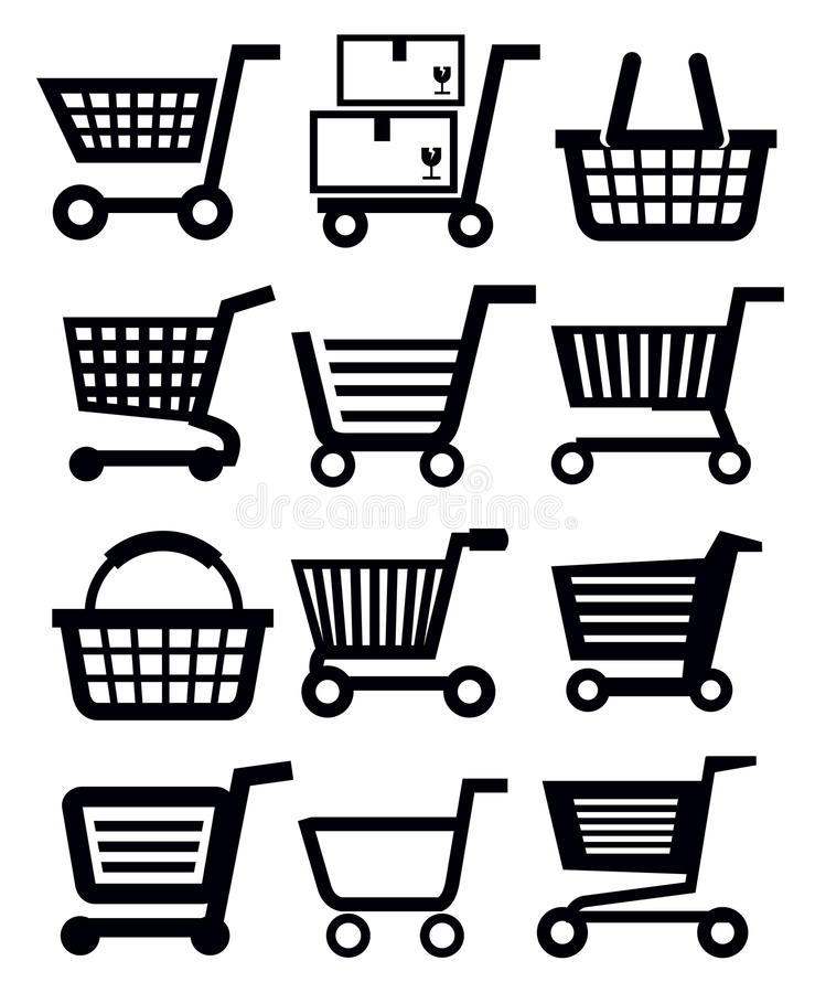 Download Shopping cart stock vector. Image of black, commercial - 30448713
