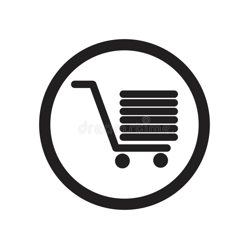 Shopping cart vector icon illustration design template. Shopping cart sign icon, vector illustration. Flat design style - Vector, lined, checkout, mobile stock images