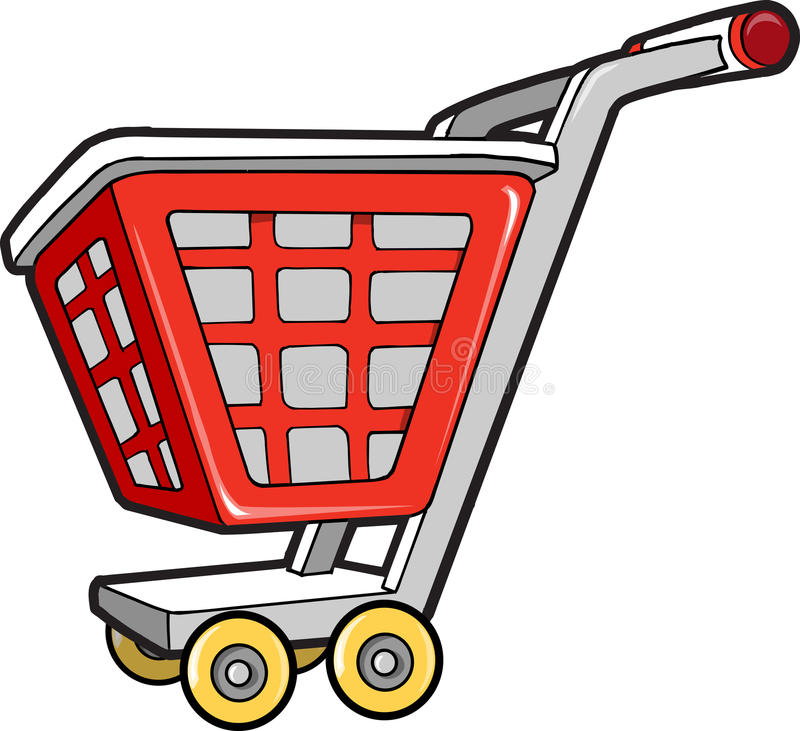 Shopping Cart Vector Illustration Stock Image