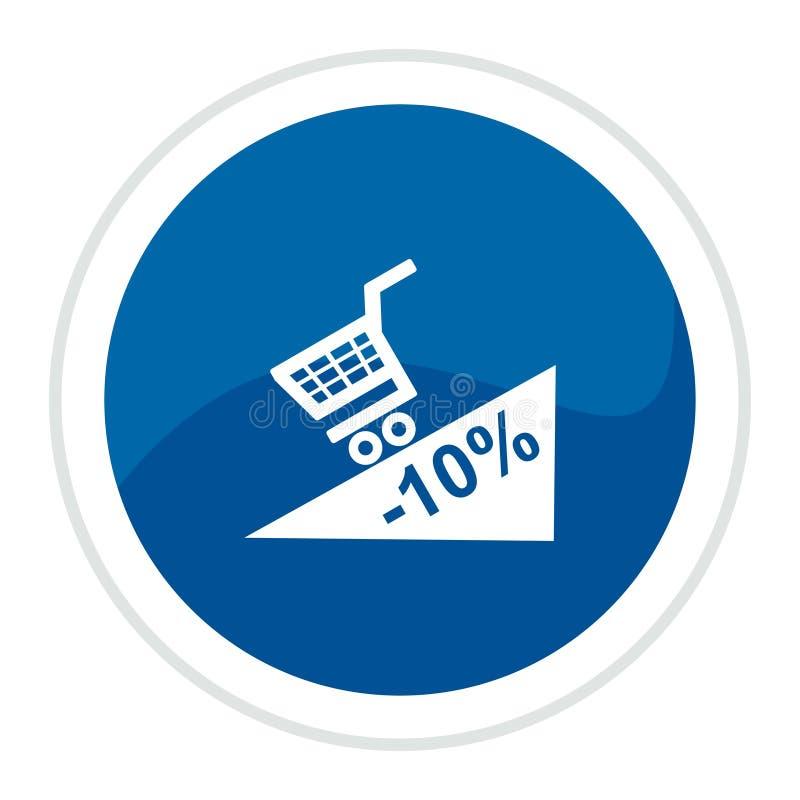 Shopping Cart Web Button Stock Photo