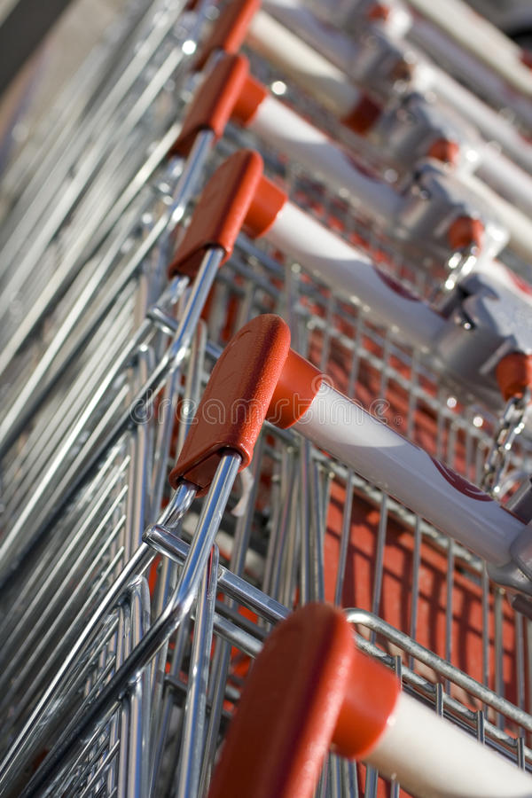 Download Shopping carts stock photo. Image of many, handles, iron - 11324516