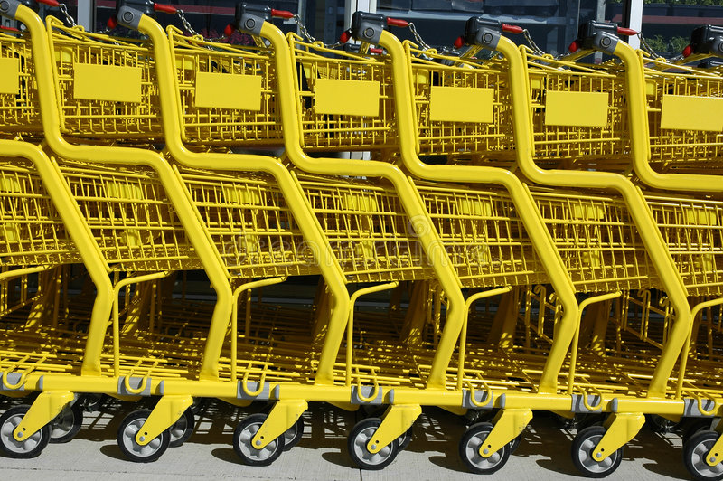 Download Shopping Carts stock image. Image of trolleys, food, produce - 155567