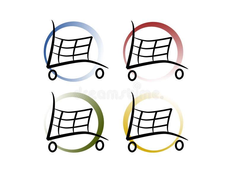 Shopping Carts royalty free illustration
