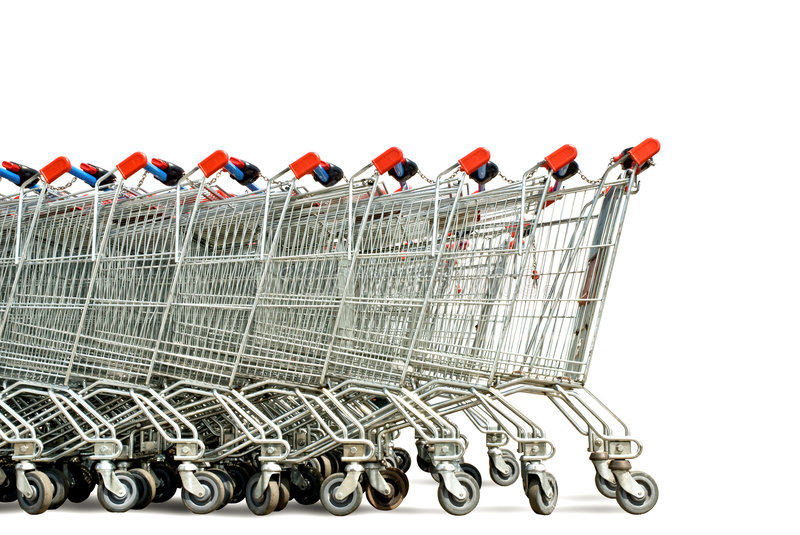Download Shopping carts stock photo. Image of market, expenditure - 5367106